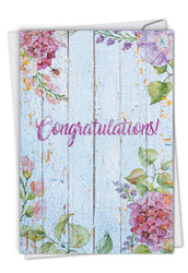 Blooming Driftwood, Printed Congratulations Greeting Card - C6108JCGG