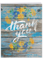 J6108CTY - Blooming Driftwood - Thank You: Jumbo Printed Card