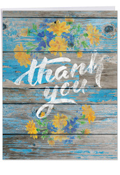 J6108CTY - Blooming Driftwood - Thank You Us: Big Paper Card