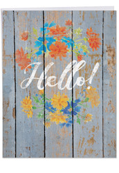 Blooming Driftwood - Hello, Extra Large All Occasions Note Card - J6108GOCG