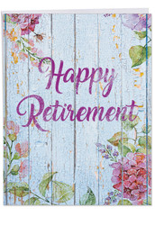 Blooming Driftwood, Extra Large Retirement Greeting Card - J6108JRTG-US