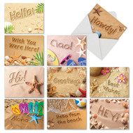 AM6113OC - Beach Notes: Mini Assorted Set of 10 Cards
