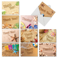 Beach Notes, Assorted Set Of Mini Thank You Greeting Cards - AM6113TYG