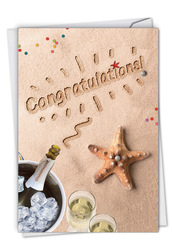 Beach Notes, Printed Congratulations Greeting Card - C6113CCGG