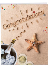 J6113CCG - Beach Notes - Congratulations: Big Greeting Card