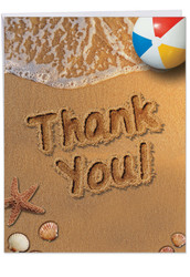 J6113GTY - Beach Notes - Thank You: Large Printed Card