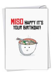 C6119IBD - Birthday Puns-Miso: Printed Card