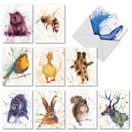 AM2954OC - Wildlife Splash: Mini Mixed Set of 10 Cards