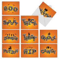 AM6123HW - Spooky Words: Mini Assorted Set of 10 Cards