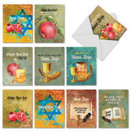 AM6135RH - Shana Tova Greetings: Mini Assorted Set of Cards