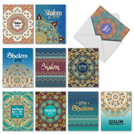 Shalom Sentiments, Assorted Set Of Mini Blank Greeting Cards - AM6200FRB