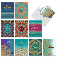 Salam Sentiments, Assorted Set Of Mini Blank Note Cards - AM6208FRB