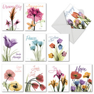 AM6220OC - Inspiring Floral Mix: Mini Assorted Set of 10 Cards