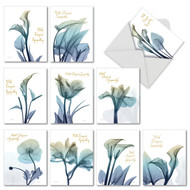 Blooming Expressions, Assorted Set Of Mini Sympathy Note Cards - AM6221SMG