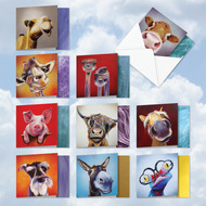AMQ6218TY - Animal Magnetism: Mini Square-Top Assorted Set of 10 Cards