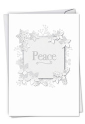 C6130DSG - Winter White on White-Peace: Greeting Card