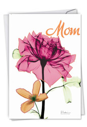Inspiring Floral Mix, Printed Mother's Day Greeting Card - C6220BMDG