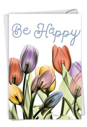 Inspiring Floral Mix, Printed Birthday Note Card - C6220JBDG