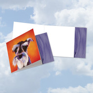 CQ6218DOC - Animal Magnetism-Dog: Square-Top Paper Card