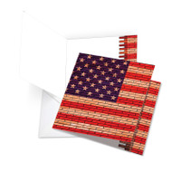 JQ2013DFJ - Flag Day: Over-sized Square-Top Greeting Card