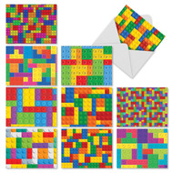 Block Letters, Assorted Set Of Mini Thank You Note Cards - AM3068TYG