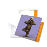 Sloth Yoga, Jumbo Square-Top Thank You Note Card - JQ6255FTYG