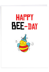 J6119BBD - Birthday Puns - Bee: Giant Printed Card