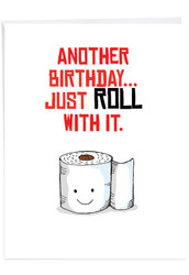 J6119CBD - Birthday Puns - Roll: Over-sized Paper Card