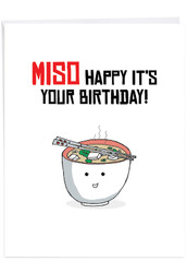J6119IBD - Birthday Puns - Miso: Over-sized Greeting Card