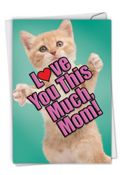 C6610GBM - Cat Love You This Much: Greeting Card