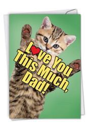 C6610HBF - Cat Love You This Much: Printed Card