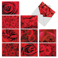 Roses Are Red, Assorted Set Of Mini Blank Greeting Cards - AM3088OCB