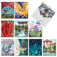 Dragon Dreams, Assorted Set Of Mini Blank Note Cards - AM6293OCB
