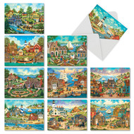 AM6329OC - This Old Town: Mini Assorted Set of 10 Cards