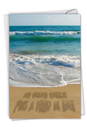 C6328DOC - Life's a Beach: Note Card