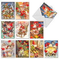 AM6440XS - Gnome for the Holidays: Mini Assorted Set of 10 Cards