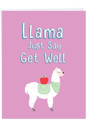 Llama Just Say, Extra Large Get Well Greeting Card - J6445EGWG