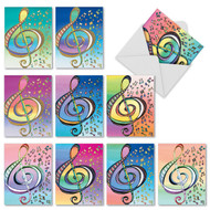 Design Tunes, Assorted Set Of Mini Thank You Note Cards - AM3315TYG