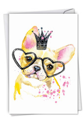 C6749ABD - Funky Colorful Creatures Dog: Greeting Card