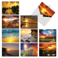 Sun Settings, Assorted Set Of Mini Sympathy Note Cards - AM1740SMG