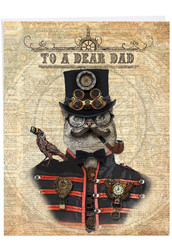 J6554AFD-US - Steampunk Cats: Giant Printed Card