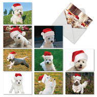 AM6324XS - Holiday Wonderful Westies: Mini Assorted Set of 10 Cards