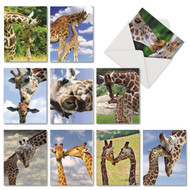 AM6843TY - Kissing Giraffes: Mini Assorted Set of 10 Cards