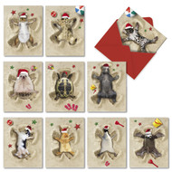 AM6844XS - Holiday Sand Angels: Mini Assorted Set of 10 Cards