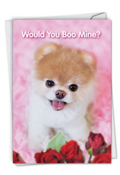 Boo My Valentine, Printed Valentine's Day Greeting Card - C6754IVDG