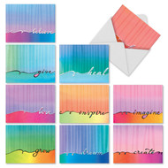 Love Lines, Assorted Set Of Mini Thank You Greeting Cards - AM3322TYG