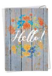 C6108GOC - Blooming Driftwood - Hello: Greeting Card
