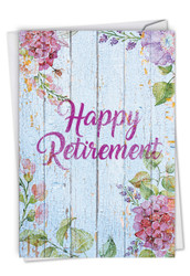 Blooming Driftwood, Printed Retirement Note Card - C6108JRTG