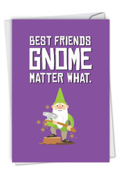 C6441HBD - Friendly Garden Gnomes - Besties: Note Card