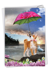 C6823DBD - Raining Dogs - Blue Skies: Printed Card